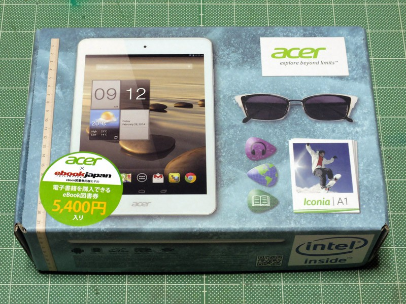 Acer Iconia A1-830 を購入したのでフォトレビュー